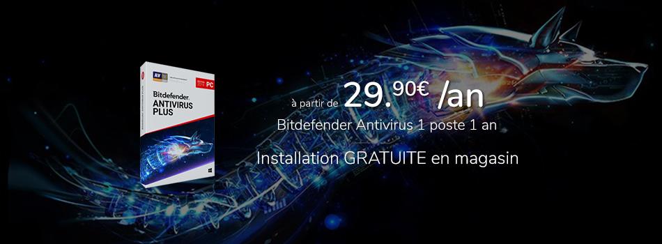 Bitdefender Antivirus à 29,95€ par an