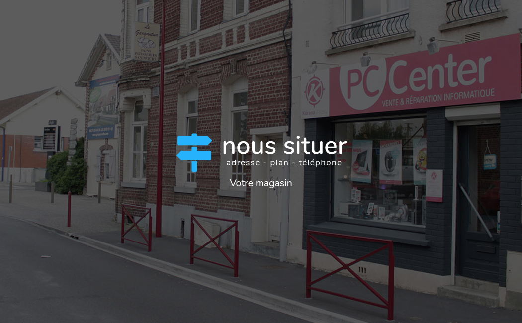 Nous situer - PC Center à Orchies face à la gare SNCF