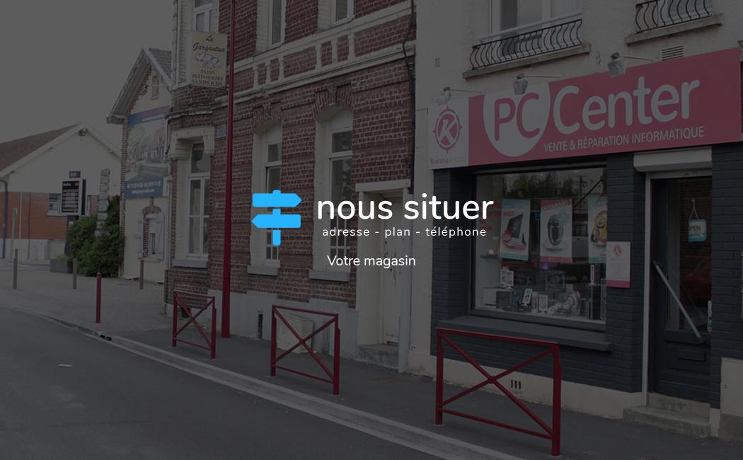 Nous situer - PC Center à Orchies face à la gare SNCF